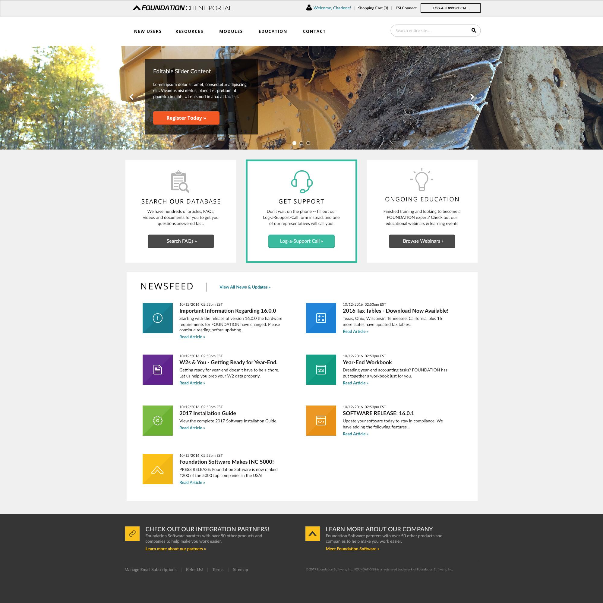 Client Website - Home Template