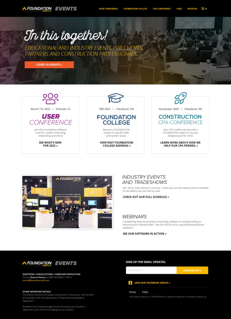 2021 Events Home Page