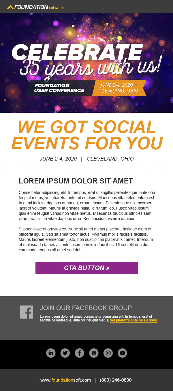 2020 User Conference Email Template 2