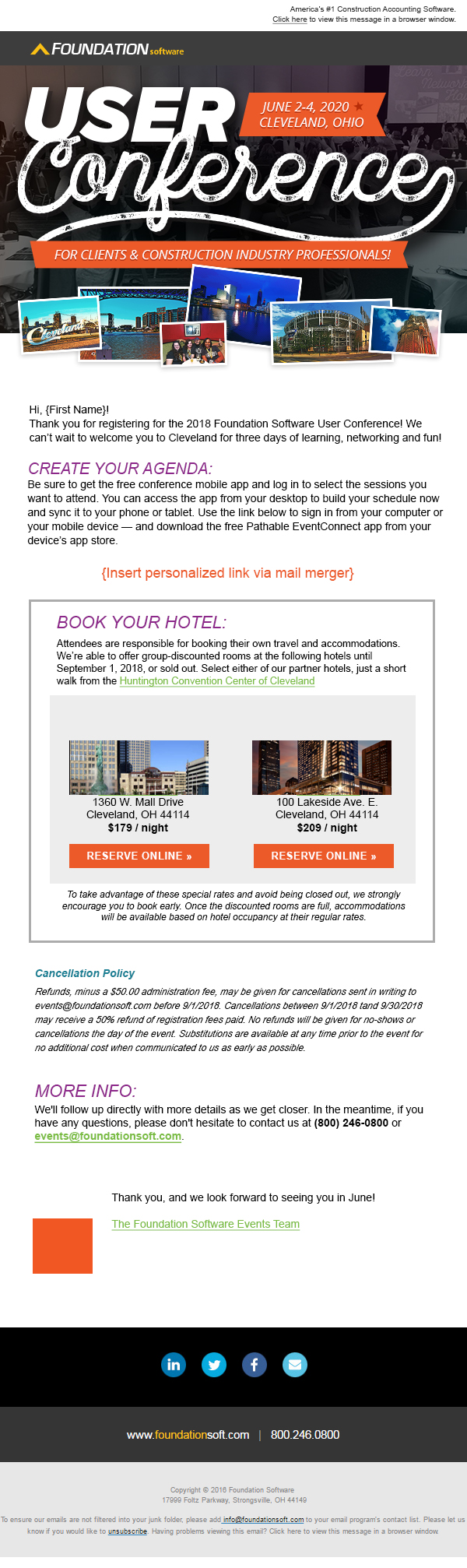 2020 User Conference Email Template 1