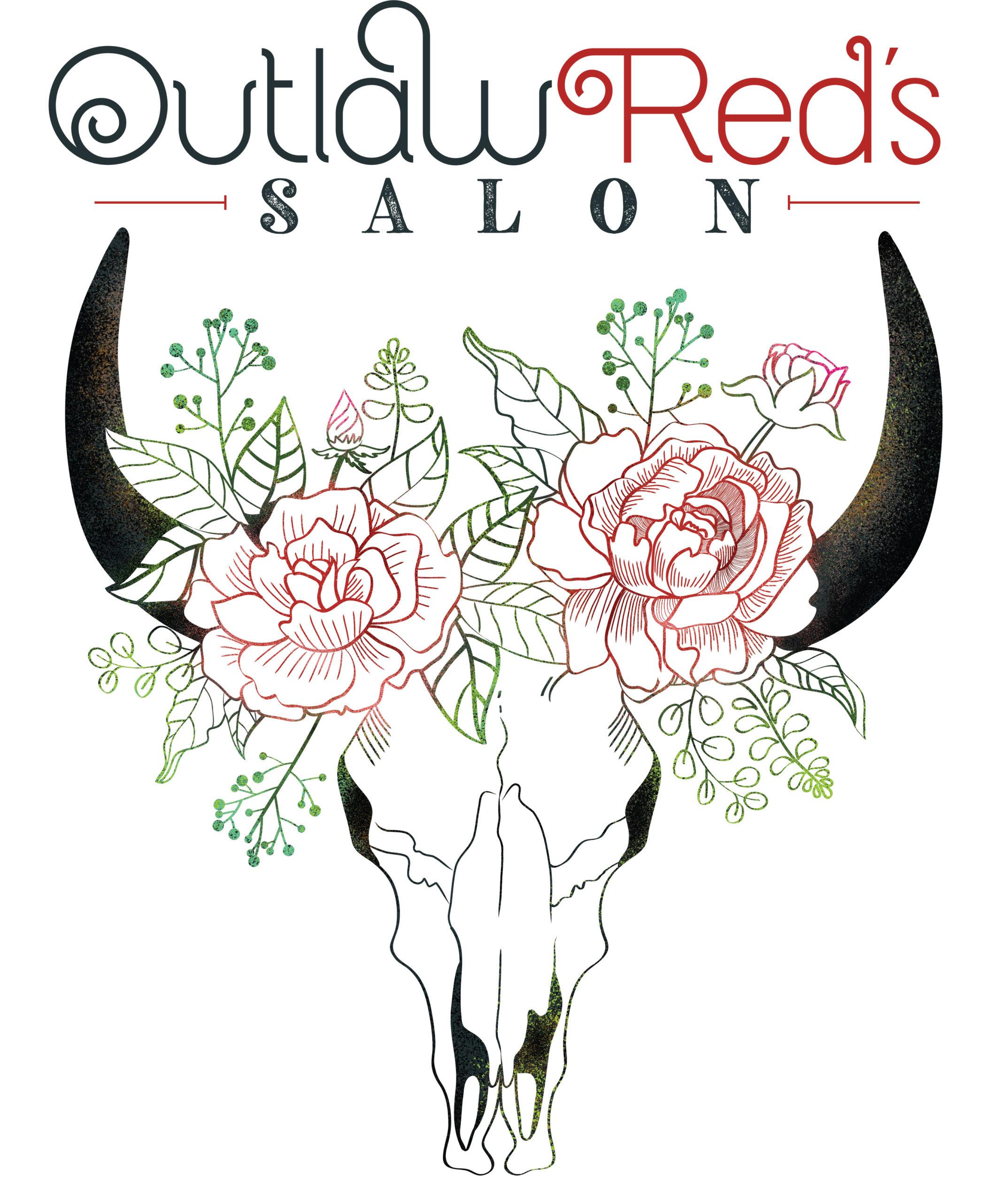 Outlaw Red's Salon Logo