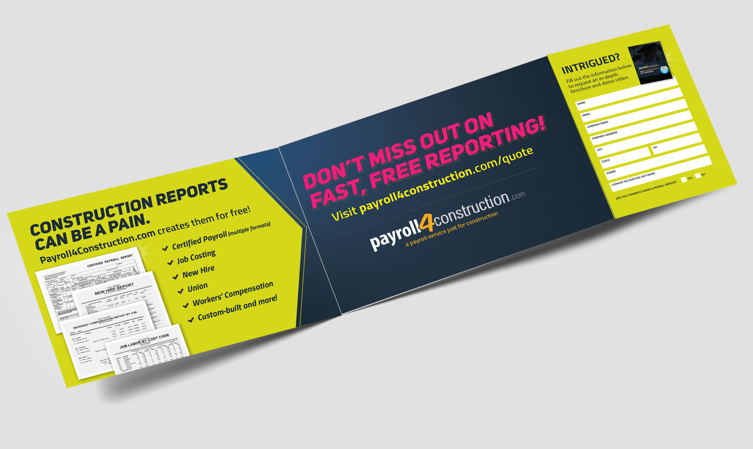 Payroll4Construction Mailer